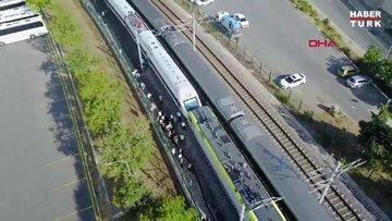 Tuzla'da iki tren kafa kafaya geldi; facianın eşiğinden dönüldü