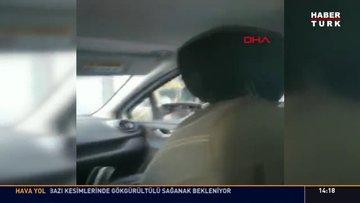 Trafikte aileye dehşet yaşattı
