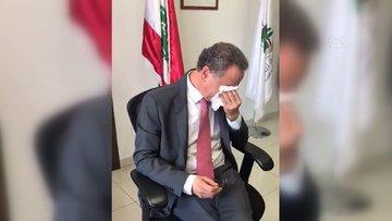 Lübnanlı Bakan görevini gözyaşlarıyla devretti