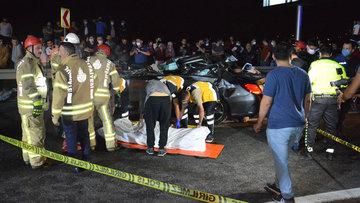 Beykoz'da korkunç kaza! 3 ölü, 3 yaralı