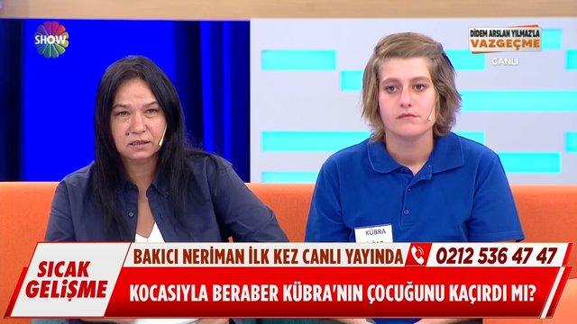 Bakıcı Neriman ilk kez canlı yayında!