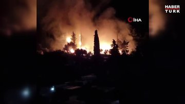 Yunanistan'ın Sisam Adası'ndaki göçmen kampında yangın