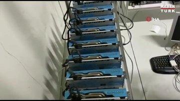 İstanbul'da düzenlenen operasyonda 73 kripto para üretim makinesi ele geçirildi