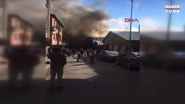Son dakika haberi Sultanbeyli'de fabrika yangını!