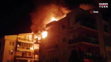 Öfkeli koca binayı ateşe verdi