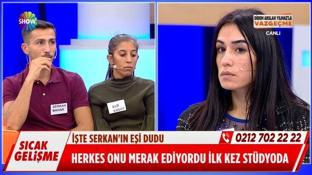 Serkan'ın sevgilisi ve eşi canlı yayında yüzleşti!