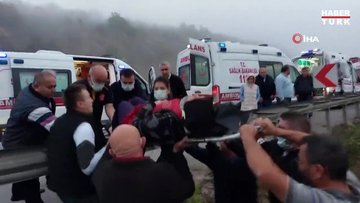 Samsun'da yolcu otobüsü 150 metreden dereye yuvarlandı: Ölü ve yaralılar var