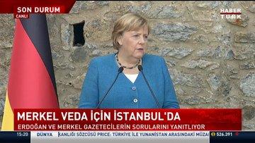Merkel veda için İstanbul'da