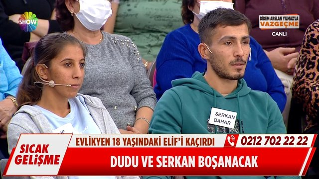 Dudu, Serkan'dan boşanmayı kabul etti!