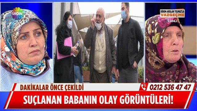 Suçlanan baba Süleyman Bey'in olay görüntüleri!